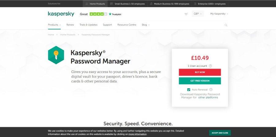 Kaspersky Password Manager screenshot