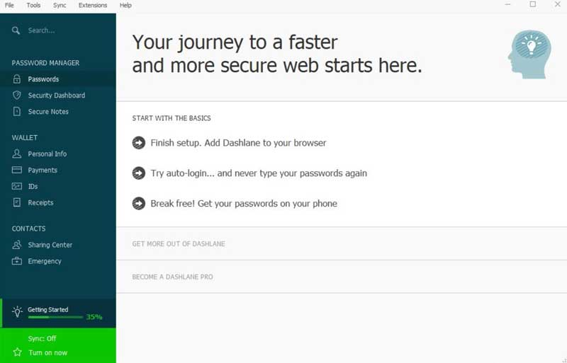 Dashlane screenshot