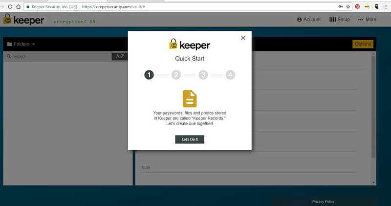 password manager - keeper login
